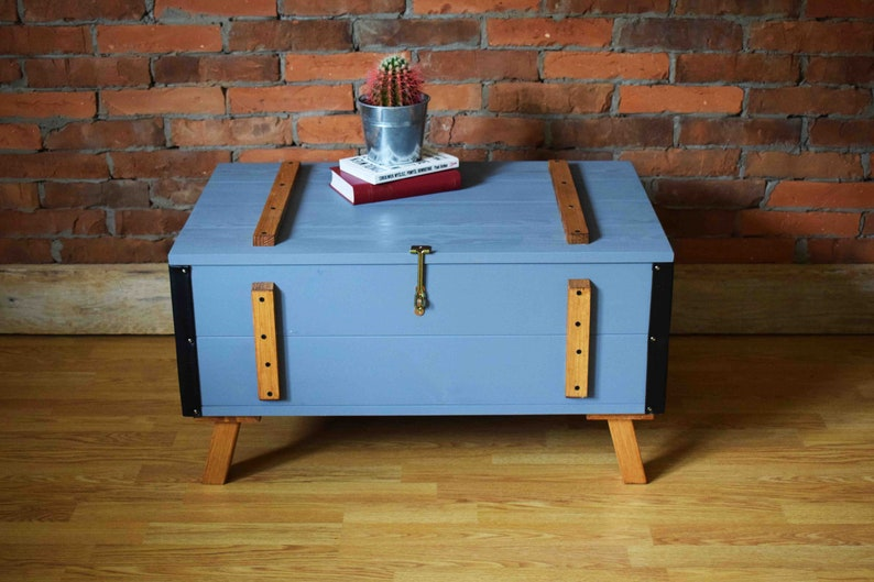 Coffee Table Toy Chest.Wooden Trunk Wooden Chest Coffee Table Toy Box Loft Bench Gray Commode Blanket Box Scandinaviann Style Wooden Furniture