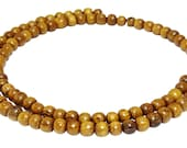 Gold wood 4 mm scoops wooden beads wooden beads wooden beads Mala beads H.GO-3
