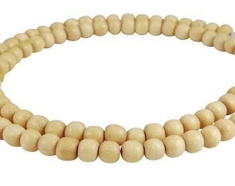 Ambaba-white wood Pearl Strand Wheels Heishi natural white Wooden beads