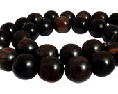 Tiger ebony balls 15 mm beaded wooden beads Mala beads, H.TI-6d