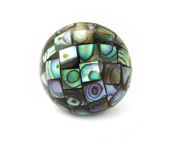 XXL-Perlen ganze Muschel-Schale Abalone Paua // Seeohren // See-Opal // Perlmutt