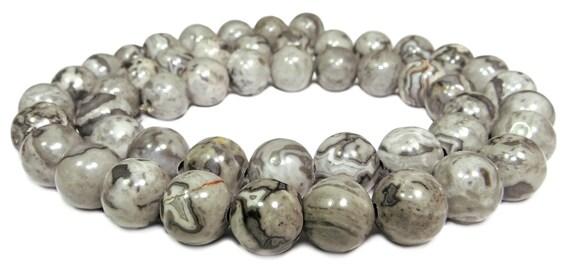 Paisajes jaspe 4mm perlas alrededor de joyas perlas Edelstein 1 Strang