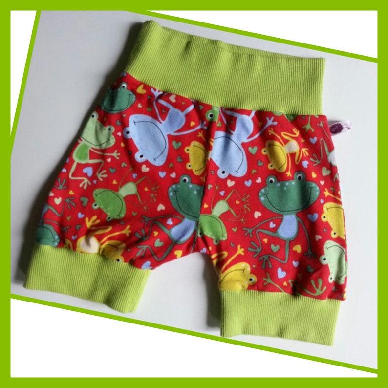 6874 Frogs Pumphose Short from Jersey Gr