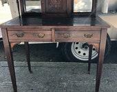 Antique English Rosewood Ladies Writing Desk Satinwood Inlay