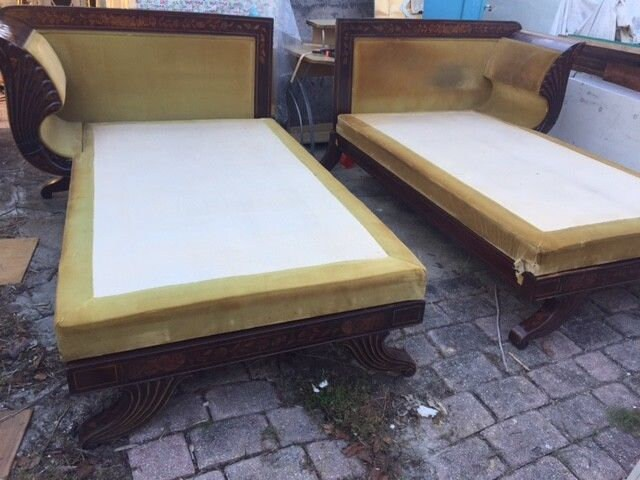 Pair of Antique Dutch Beds, Day Beds , Chaise Lounge for sale