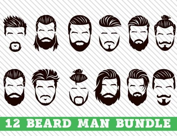 Beard Man SVG Beards svg Beard svg Beard clipart Beard Man | Etsy