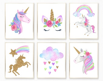 photograph regarding Printable Pictures of Unicorns titled Unicorn printable Etsy
