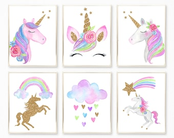 picture regarding Printable Pictures of Unicorns known as Unicorn printable Etsy