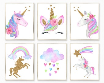 image about Printable Unicorn identified as Unicorn printable Etsy