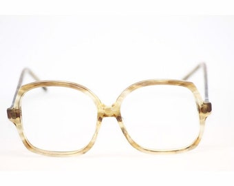 99879bb2a0a Womens Vintage Oversized 80s Eyewear Geek Chic Glasses May Optical  54 15 140 Made in USA