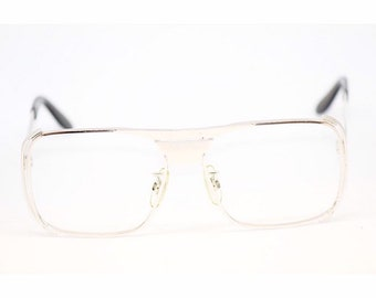 5429254b36 Vintage Men s 80s Eyewear Oversized Aviators Silver 54 20 145 Made In Italy