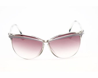 c2605c2d24b Women s Vintage 80s Sunglasses Huge Oversized Lenses Gradient Gray Tint  Made in Tunisia
