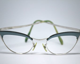 d6f561aa03 Women s Vintage Mid Century Cat Eye Eyeglasses 12K Gold Filled Specs Made  in USA