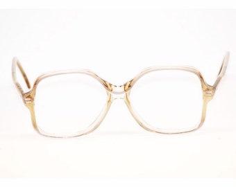 84494aa90 70s Eyewear | Oversized Geek Chic Glasses | Cognac Mist 54/16/140 Made in  Hong Kong