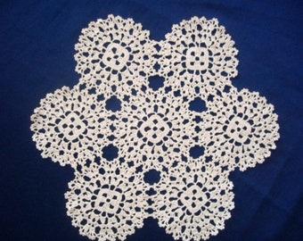Knitted white napkin set of 6