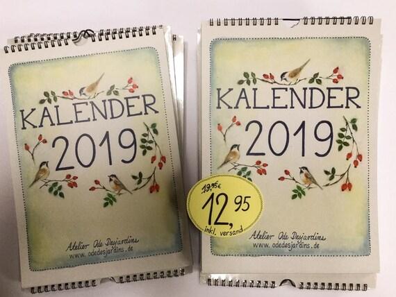 Jahreskalender 2019 din a4