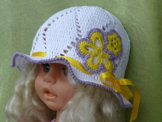 Sommermütze Kinder Mädchen Gehäkelt Summer Hat Kids Crochet