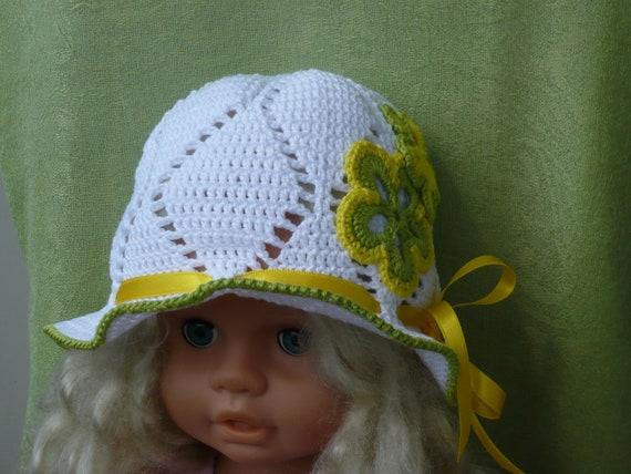 Sommermütze Kinder Mädchen Gehäkelt Summer Hat Kids Crochet Etsy