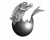 Crocodile/Fish Chimera - Digital Printing