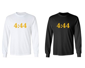 2a71429cc3b6 JAY Z 4 44 Adult Long Sleeve T-Shirts (Black and White)