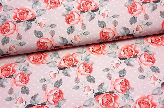 Baumwolle JERSEY Stoff BOHO FEDERN FEDER Baumwolljersey ÖKO-TEX cotton fabric