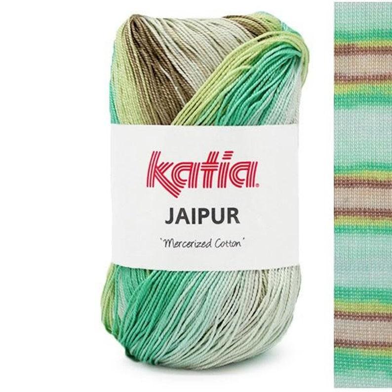 EUR 8.40100g JAIPUR KATIA Cotton lace Yarn Gradient 250 gradient variegated color cottonyarn lace yarn