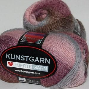 100 g Kunstgarn Chaussettes Laine 4 positions dégradé 17 Lace Laine Foulards Gradient yarn