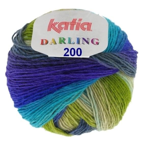 50g DARLING KATIA FARBVERLAUF 200 Merino variegated lace yarn Lacegarn Wolle