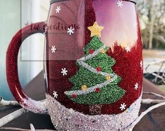 017fe228f80d5 Glitter Christmas Snow Tumbler