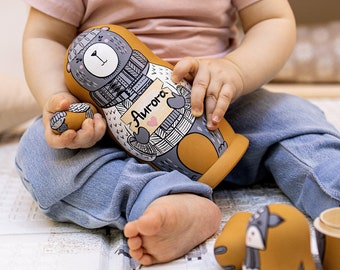 Nesting dolls for kids Matryoshka with bear Personalized Animal nesting doll Russian doll Matroschka Montessori baby toys