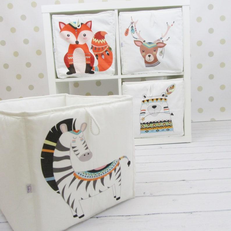 Contenitore Per Giocattoli Libreria Ikea Kallax Con Zebra Etsy