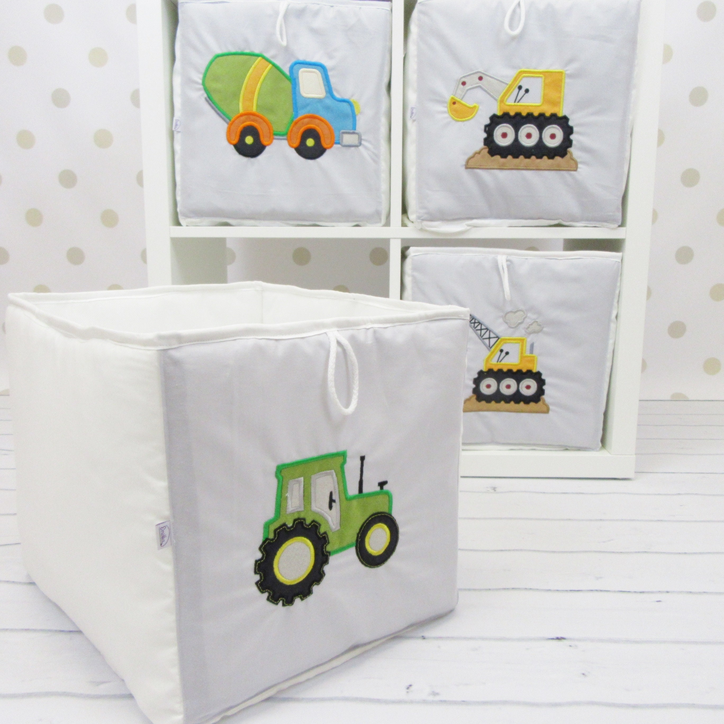 der beh lter aus traktor spielzeug ikea b cherregal kallax etsy. Black Bedroom Furniture Sets. Home Design Ideas