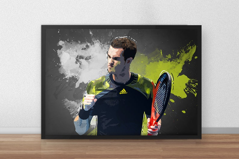 318f9518 Andy Murray Tennis Tennis Gifts Tennis decor Tennis | Etsy