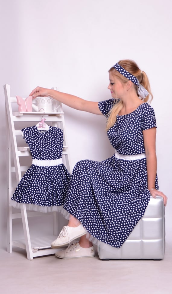 Summer dresses Pin up mommy and me outfits matching mommy and daughter