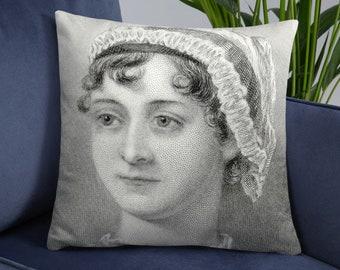 Jane Austen pillow-Jane Austen pillow cover-literary quote pillow case-custom pillow-throw pillow cover-book pillow-by NATURA PICTA-NPCP003
