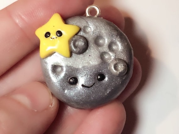Polymer Clay Christmas Ideas.Cute Moon And Star Charms Cute Gift Ideas Polymer Clay Charms Best Friend Charm Planner Charms Keyring Charm Christmas Gift