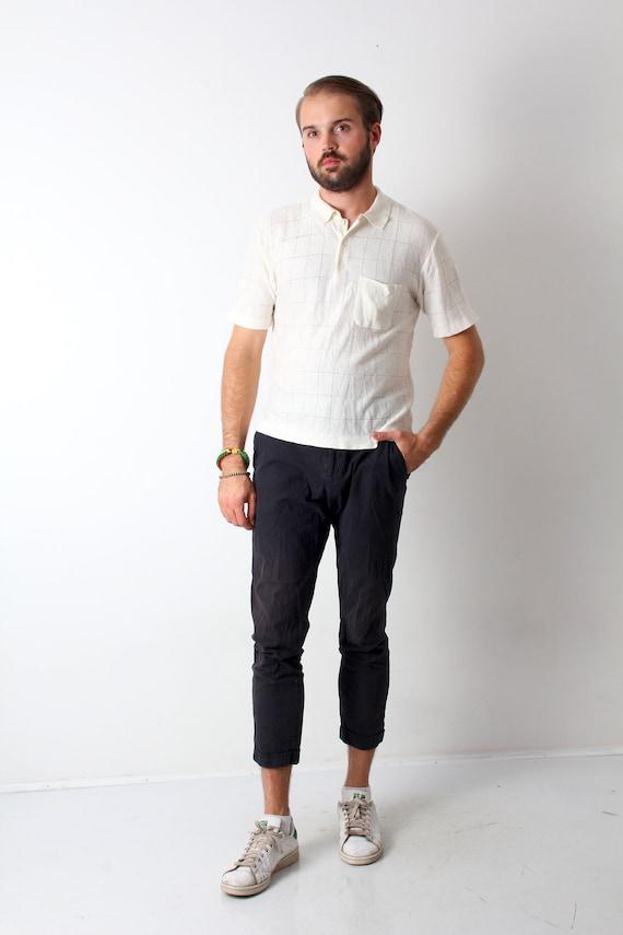 collared shirt and shorts