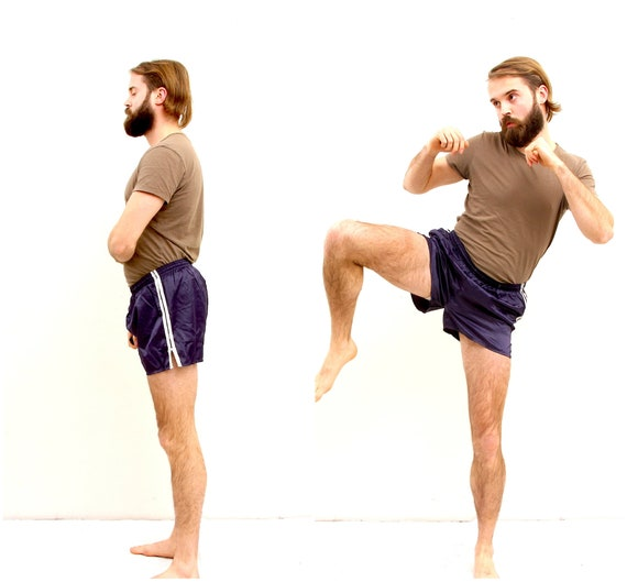 Kick Boxing Sports Unisex Shorts Running Short Blu