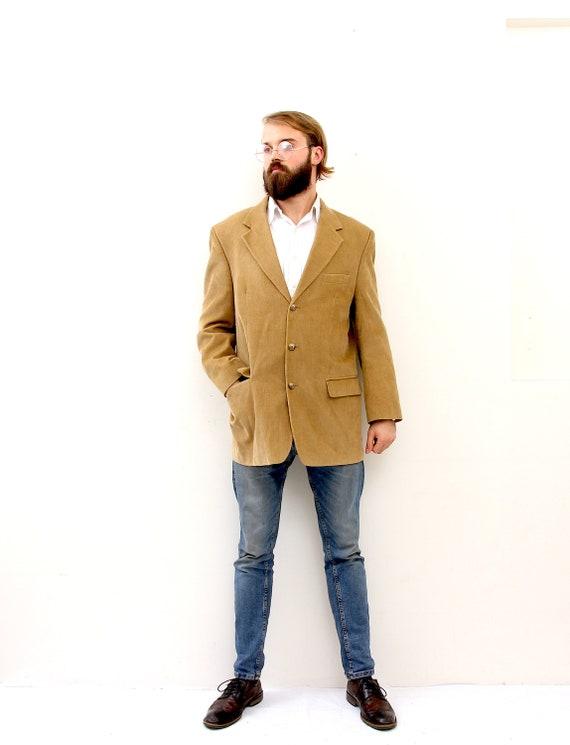Corduroy Beige Wedding Blazer Premium Suit Men Jac