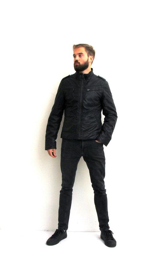 Minimalist Waterproof Men Jacket Motorcycle Black