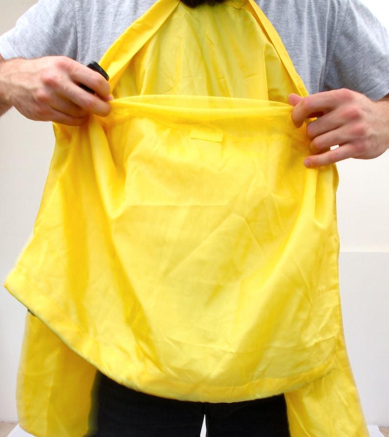 Waterproof Sports Men Top Athletic Yellow Rain Windbreaker XS S