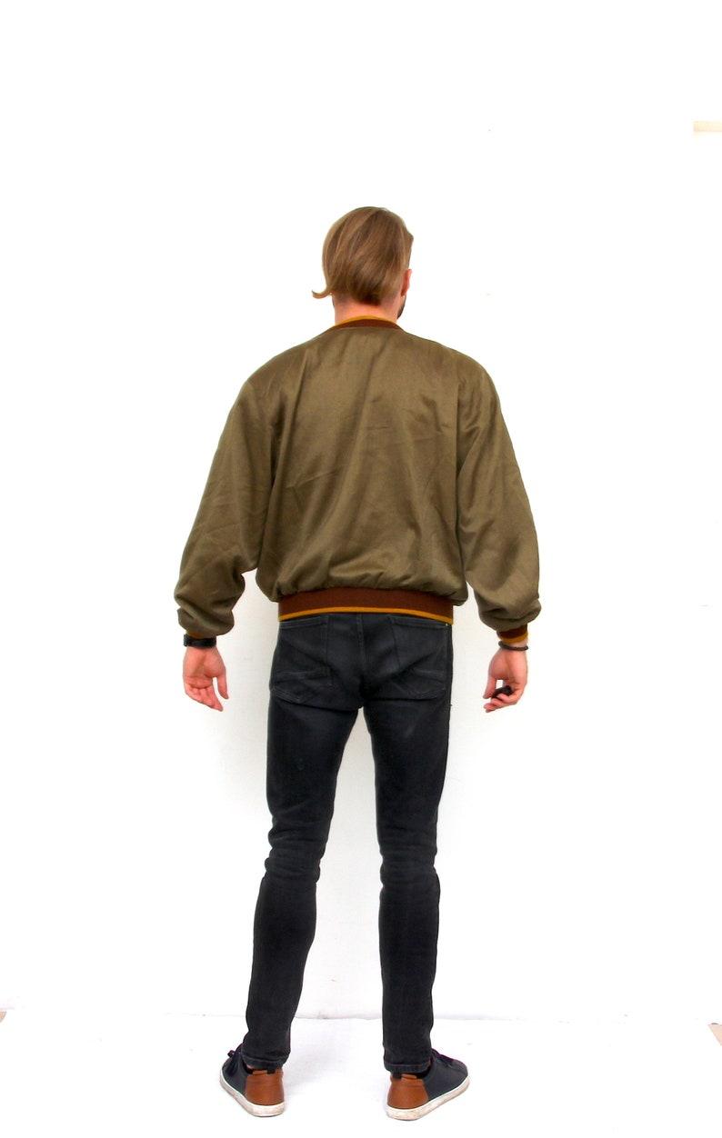 Epaulets Deep V-Neck Jacket Unisex Oversized Beige Cardigan M L