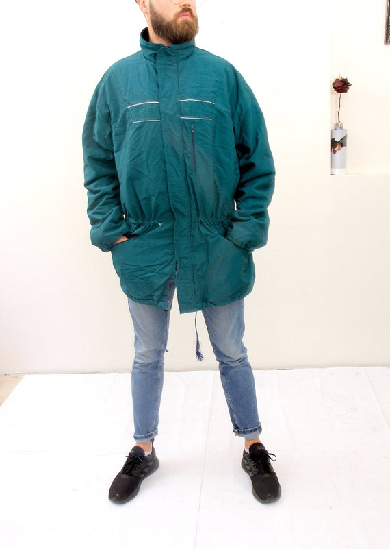 Vintage Finnish Business Coat Oversized Parka Gree