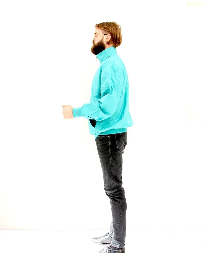 Half Zip Minimalist Mint Windbreaker Unisex Sport Cotton Jacket M L