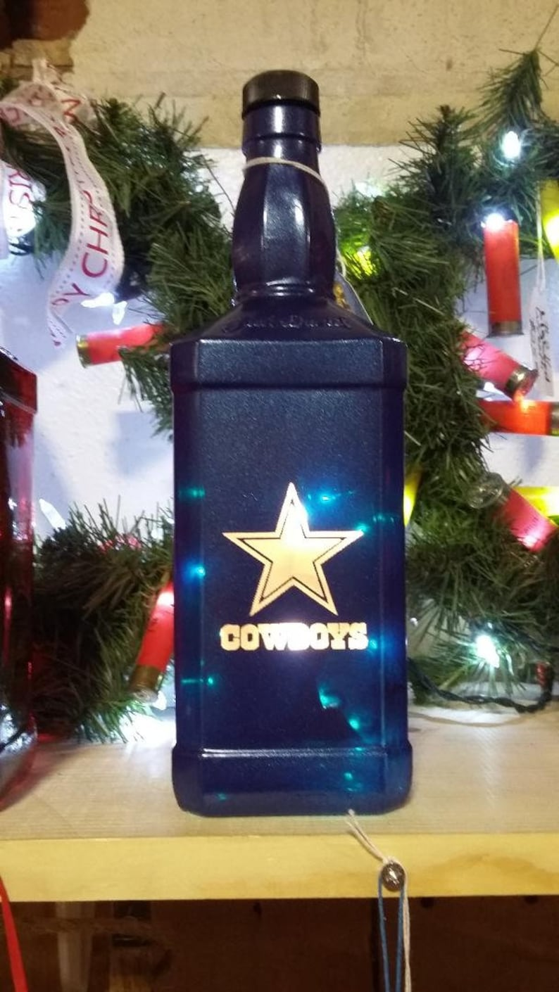 NEW Laser Engraved Lighted Metallic Blue Dallas Cowboys image 0