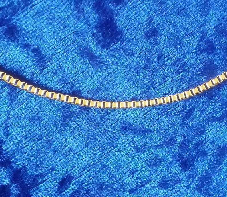 2mm Box Chain Pure Stainless Steel Necklace with 18K Gold image 0