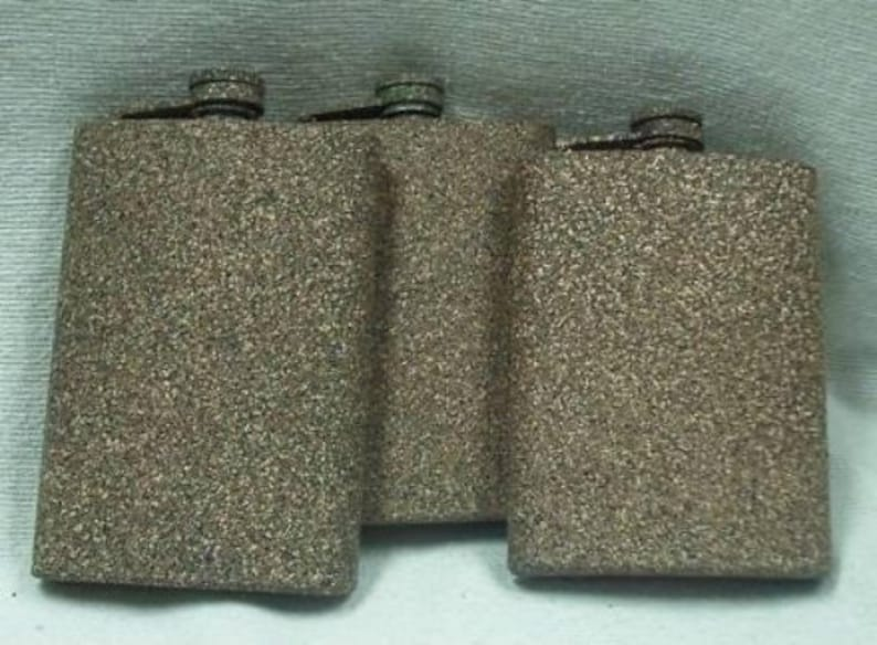 Custom Laser Engraved Sandstone Camo 8-oz Flask  Flask Funnel image 0