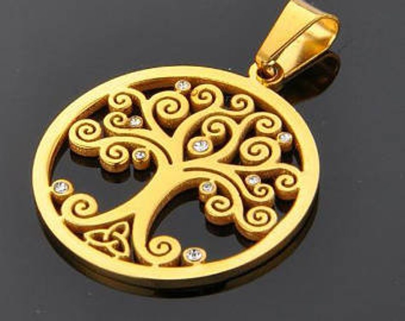 Item ALI1014  Brand New Stainless Steel Celtic Tree of Life image 0