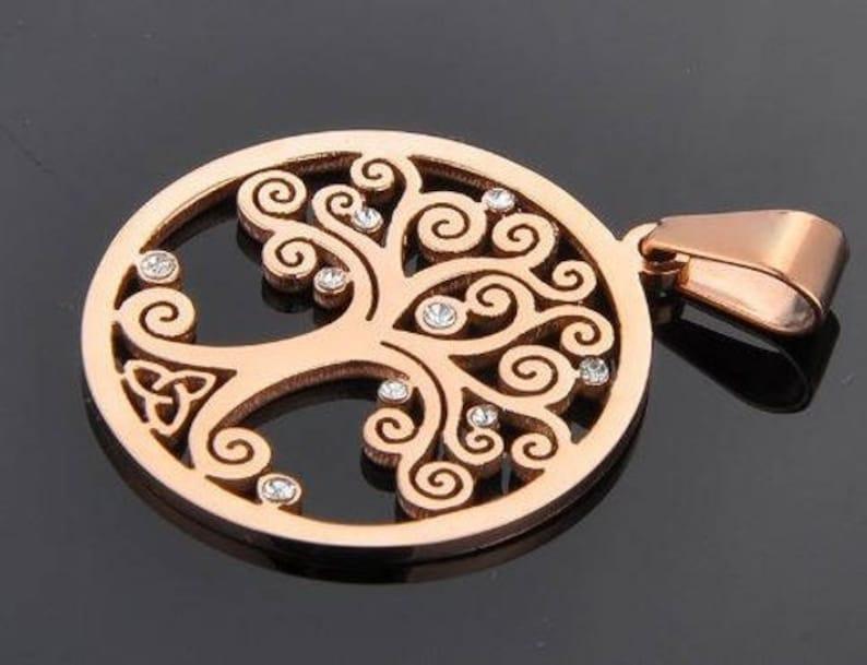 Item ALI1015  Brand New Stainless Steel Celtic Tree of Life image 0