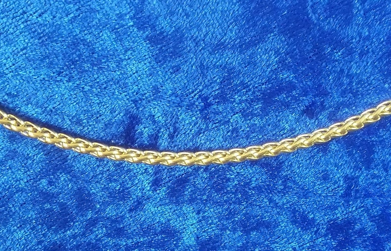 3mm Wheat Chain Pure Stainless Steel Necklace with 18K Gold image 0